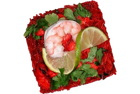 Crevettes biryani